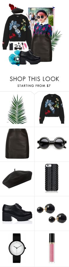 """""""japan roses"""" by thermohalia on Polyvore featuring мода, Nika, Anthony Vaccarello, River Island, ZeroUV, Accessorize, Savannah Hayes, Journee Collection, Revlon и skirt"""