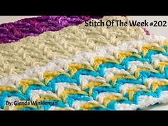 Stitch Of The Week - Crochet Herringbone Stitch