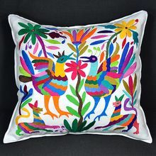 beautiful hand embroidered pillow.