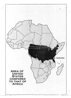 Africa - bigger than most of us realize.