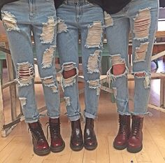 doc martens & ripped jeans