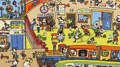 (2015-11) Hvad gør de på stationen? Lyon, Story Starters, Teaching French, Paris, Art Museum, Activities For Kids, Illustration, Artwork, Spy