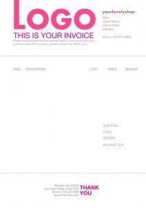 10 creative invoice template designs design pinterest business