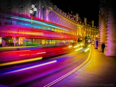 Light Trail at Piccadilly Circus by Simon Tew