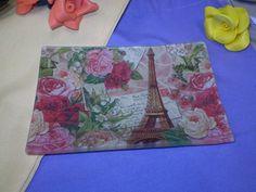 Nuestro consejos de bellas artes, decoupage con servilletas sobre cristal. Para decorar una bandeja de cristal.