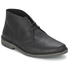 #ClarksAnkelBoot FARSON MID Black, Made with a leather upper and a synthetic outer sole. £ 59.99 - Spartoo.co.uk