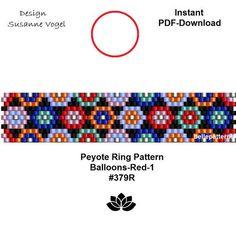 DETAILS: - endless pattern - adjustable ring length Peyote ring pattern - odd count Sizes: cm x cm / x cm x cm / x Beads: Miyuki Delica >>>>>>>>>>>>> Coupons-codes: <<<<<<<<<<< Peyote Stitch Patterns, Bead Loom Patterns, Beading Patterns, Peyote Beading, Beaded Earrings Patterns, Bracelet Patterns, Beaded Rings, Beaded Bracelets, Molde