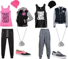 cool outfits for teenage girls Cute Couple Shirts, Matching Couple Outfits, Matching Couples, Swag Outfits, Outfits For Teens, Pretty Outfits, Best Friend Outfits, Polyvore, Swagg