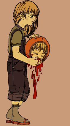 Karen with Kenny's head by DIO ~ DIO ~ WRYYY  #SOUTH PARK #KAREN MCCORMICK #KENNY MCCORMICK #GURO #BLOOD #DECAPITATION