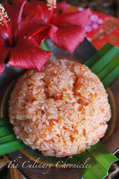 Xôi Gấc (Baby Jackfruit Flavored Sticky Rice)