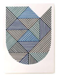 Hatch pattern - Art Deco feel, splashes of blue