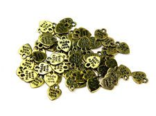 Darice Metal 'Made with Love' Labels for Clothing & Accessories - Gold (70pk)