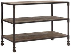 Zuo Mission Bay Distressed Natural 3-Level Shelf #interior_design #furniture See more http://www.eurostylelighting.com/furniture-category/search.htm