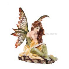 Fairy Reading a Book Figurine