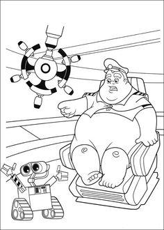 Wall-E Tegninger til Farvelægning. Printbare Farvelægning for børn. Tegninger til udskriv og farve nº 46