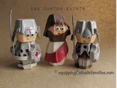 Kids will have so much fun crafting a collection of Egg Carton Saints Perfect for days that are too hot or too cold to play outside Catholic Lent, Catholic Crafts, Treasure Chest Craft, Egg Box Craft, Cute Kids Crafts, Egg Carton Crafts, Cross Crafts, Holy Week, Recycled Crafts