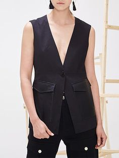 Simple Polyester Sleeveless Vest