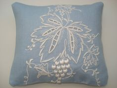 Handmade Sachet Pin Cushion  Madeira Embroidery by backgatecottage, $35.00