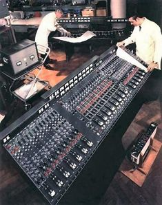 Best mixing consoles. The first transistorized recording console used by EMI Studios, called the TG 12345.