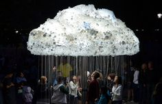 Cloud Made of Thousands of Lightbulbs at Nuit Blanche Festival in Calgary | Beautiful/Decay Artist & Design