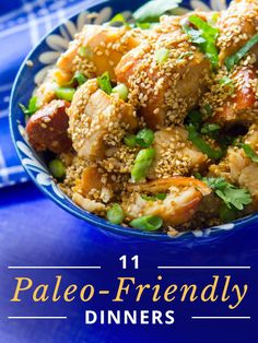 11 Paleo-Friendly Dinners. Low carb & gluten-free! #paleofriendlyrecipes #lowcarbrecipes