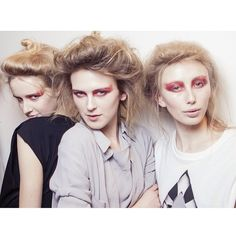 Talk about badass! Loving the hair for the @nom_d #marrfactory show with hair by @Sophy Phillips using O&M!