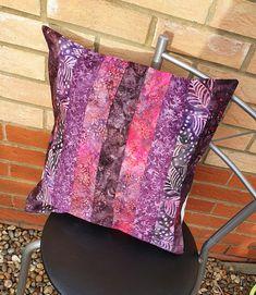 Striped Purple Haze Batik Cushion Cover (Ref 0174) £15.99