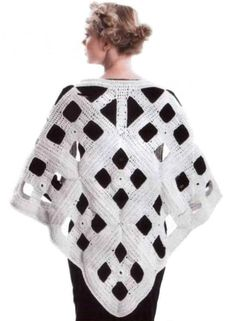 Unusual poncho with diagrams