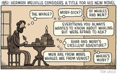 Herman Melville Considers a Title for His New Novel by Tom Gauld