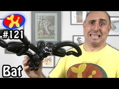 Learn how to make balloon animals. This episode will teach you how to make a Bat. Which bat do you prefer? The Happy Bat? Or the Evil Bat? Masquerade Party, Masquerade Masks, How To Make Balloon, Halloween Balloons, Balloon Crafts, Gothic Fairy, Balloon Animals, Lowbrow Art, Mask Party