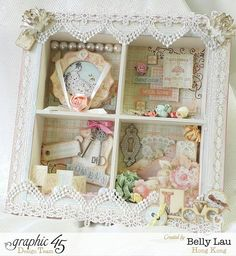 Baby 2 Bride Shadow Box - Graphic 45 - Clearsnap Blog Hop - Baby 2 Bride - Belly Lau - 1 of 11