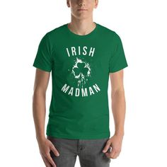 27d4b9e759 Irish Madman Vintage St. Patrick Day T Shirt Short-Sleeve Unisex T-Shirt