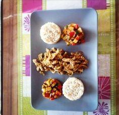 Gyros mit Reis und Gemüse