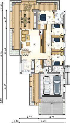 4 Bedroom House Plans, Best House Plans, Dream House Plans, Modern House Plans, Small House Plans, Bungalow Floor Plans, Modern Bungalow House, House Floor Plans, Flat Roof House