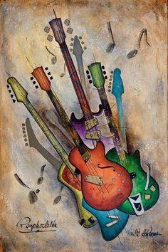 A beautiful representation of the #guitar.