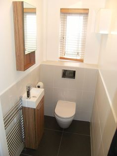 bathrooms by complete-concept plumbing tiling complete kitchen or bathroom work Tiny Bathrooms, Tiny House Bathroom, Laundry In Bathroom, Small Bathroom, White Bathroom, Small Downstairs Toilet, Small Toilet Room, Downstairs Bathroom, Bad Inspiration