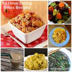 """January Clean-Up: 45 Whole-Foods, Vegan Detox Recipes Perhaps I can convince my family to """"let"""" me start up an ACD (anti candida diet). Detox Recipes, Clean Eating Recipes, Healthy Dinner Recipes, Whole Food Recipes, Vegetarian Recipes, Detox Foods, Eating Clean, Soup Recipes, Whole Foods Vegan"""