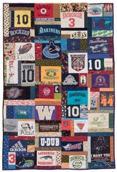 Martingale - Terrific T-Shirt Quilts (Print version + eBook bundle) Onesie Quilt, Tee Shirt Quilts, Burns, Jersey Quilt, Sports Quilts, History Of Quilting, Quilt Stitching, Book Quilt, Adidas