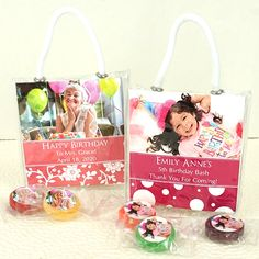 Personalized Photo Life Savers Candy Mini Gift Tote Favors-Picture it! Create completely adorable and personalized favors with our Picture Perfect Life Savers® Candies Mini Gift Totes! Pretty and petite, these mini gift totes with personalized insert Birthday Wishes For Her, New Birthday Cake, Birthday Gifts For Grandma, Birthday Cards For Mom, Birthday Games, Best Birthday Gifts, Birthday Messages, Birthday Party Favors, Birthday Bash