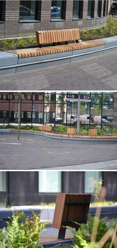Custom made urban bench by Grijsen, Den Bosch, Netherlands