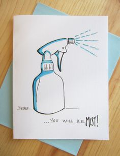 Farewell Card Mist by LeftUnattendedComics on Etsy Going Away Cards, Going Away Gifts, Goodbye Cards, Goodbye Gifts, Farewell Gifts, Farewell Card, Cute Cards, Diy Cards, Mothers Day Drawings