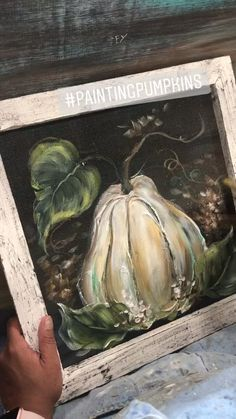 White pumpkin painting by Rebeca Flott Arts - Art process video - Fall Canvas Painting, Autumn Painting, Autumn Art, Pumpkin Painting, Canvas Art, Fall Paintings, Pumpkin Art, Halloween Painting, Painted Pumpkins