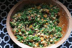 Oil-Free Protein-Packed Kale Salad #vegan