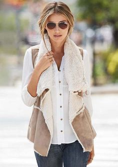 Faux Shearling Vest - Alloy Plus - Alloy Apparel (Find Something Like It In a More but More Affordable)