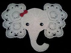 CROCHE COM RECEITA: Elefante em croche quer ser tapete mas pode se tor...