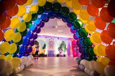 My Little Pony Birthday Party Ideas My Little Pony Birthday Party, Unicorn Birthday Parties, Girl Birthday, Birthday Ideas, My Little Pony Decorations, Rainbow Party Decorations, Rainbow Dash Party, Balloons And More, Rainbow Balloons