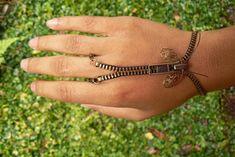Steampunk Bracelet - Zip-On Bracelet