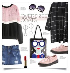 """""""Chic Oversized Coats"""" by mahafromkailash ❤ liked on Polyvore featuring Lancôme"""