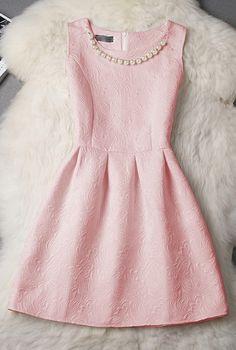 Slim Round Neck Sleeveless Dress Princess