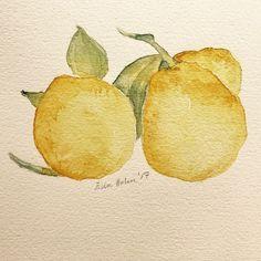 Lemon (ElinArt - September 2017) watercolors